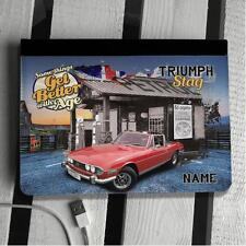 Personalised Triumph stag Red Classic Car Custom iPad cover Flip Case Gift