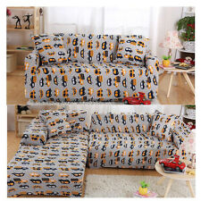 Super Soft mini Bus Pattern Stretch Sofa Couch Slip Covers For 1 2 3 4 Seater