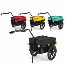 Bike Trailer Coupling Penumatic Tire 70 L Bicycle Cargo Luggage Hand Wagon 60 kg