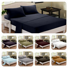 Bamboo 1800 Series Sheet Set 4 Piece  Extra Soft and Deep Bedding King or Queen