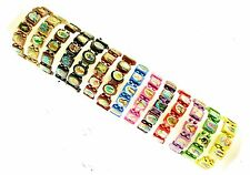 Elasticated Wooden Saints Bracelet. Wholesale Discounted Prices Bulk Buy Job Lot