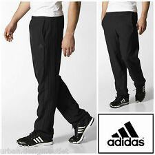 adidas 3S Essentials Tracksuit Bottoms Black Woven Jog Track Pant Small Mens NEW