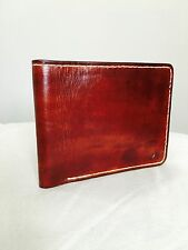 Fully hand crafted Bi fold leather wallet