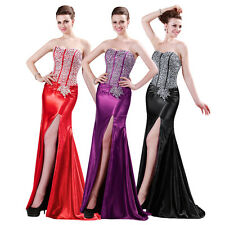 GK Strapless Sequins Long Wedding Bridesmaid Formal Evening Party Prom Dresses