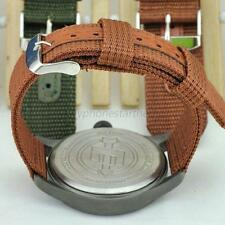 Men Military Army Nylon Fabric Wrist Watch Band Strap Size 18/20/22/24mm 4Colors