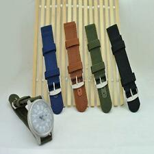 Practical Military Army Nylon Fabric Canva Wrist Watch Band Strap 18-24mm 4Color
