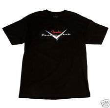 Fender Custom Shop T-Shirt - Black with Custom Shop Logo