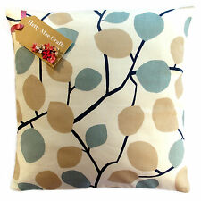 Designer Clarke and Clarke Nissa Mineral Natural fabric Cushion Cover