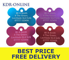 Engraved Pet Tags for Dogs - Anodised Aluminium - ID Identity Tag - Personalise