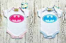 Baby Bodysuit with BATMAN logo for boy and for girl. Baby grow.