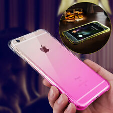 Transparent Rainbow Gradient TPU Back Case Fitted Cover For iPhone 6 6s/6 Plus