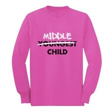 Middle Child Funny Gift Idea Cool Middle Brother Long sleeve kids T-Shirt