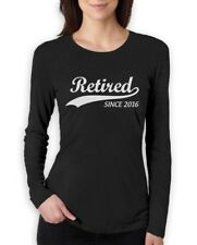 Retired Since 2016 - Retirement Gift Idea Novelty Women Long Sleeve T-Shirt