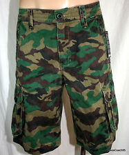 Hurley One & Only Cargo Shorts Camouflage Mens New with Tags 32 33 34 Camo
