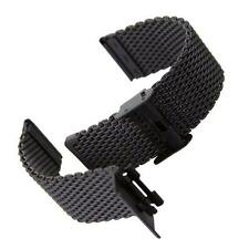 Stainless Steel Bracelet Strap Watch Mesh Replacement Band Double Clasp Bracelet