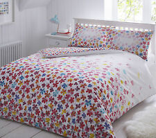 Scattered Floral Multi Duvet Cover & Pillowcase Set Bed Quilt Single Double King