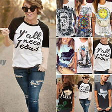 2016 New Women's Short Sleeve Shirt Casual Blouse Loose Cotton Tops Lady T Shirt
