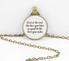 "Beatles ""And in the end..."" Pendant Necklace or Key Ring"