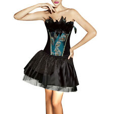 Peacock Prom Dress Masquerade Gown Formal Evening Party Dresses Corset Uniform