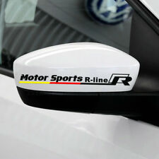 Vinyl Motor Sports R-line Auto Rear View Mirror Car Sticker Decal Emblem VW 2 PC