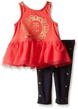 Juicy Couture Infant Girls Coral Top 2pc Legging Set Size 0/3M 3/6M 6/9M $59.50