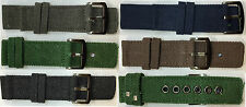 Brand New Military Army Black Green Blue 26mm Fabric Canvas Watch Band Strap