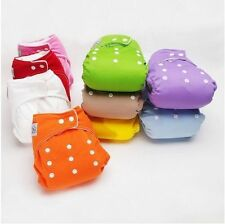 Diaper + Inserts Adjustable Reusable Lot Baby Washable Cloth Diaper Nappies Set