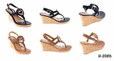 Women Open Toes Thong Wedge Sandals Fashion Heel Slip-Ons Flip Flops Shoes (5)