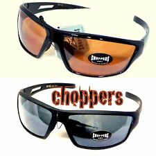 Authentic Choppers Sunglasses Wind Resistant Motorcycle Biker Sports Wrap 100UVA