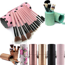 Portable Leather Storage Organizer Brush Holder Cosmetic Cup Case For Brush Pen