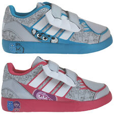 Adidas Disney Monsters Inc University Kids Velcro Trainers Boys Girls