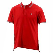 Fila Men's Matcho 3 Short Sleeve Cardinal Red Cotton Polo Shirt