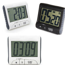 LCD Digital Cooking Kitchen Timer Count Down Up Clock Loud Alarm Black White #WU