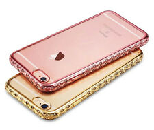Luxury Bling Diamond Plated Frame TPU Back Case Cover For Apple iPhone 6 6S Plus