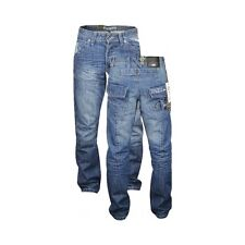 NEW MENS ENZO JEANS BLUE DESIGNER BRANDED STRAIGHT WASHED ALL WAIST & SIZES