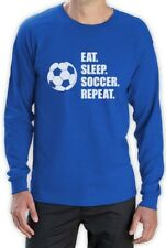 Eat Sleep Soccer Repeat - Cool Gift for Soccer Fans Long Sleeve T-Shirt Players