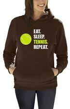 Eat Sleep Tennis Repeat - Tennis Player Gift Sports Women Hoodie Novelty Present