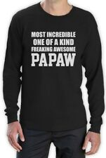 Most Incredible One Of A Kind Freaking Awesome PAPAW Grandpa Long Sleeve T-Shirt