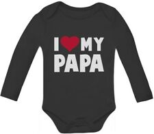 I Love Heart My Papa Infant Bodysuit Father's Day Gift Baby Long Sleeve Bodysuit