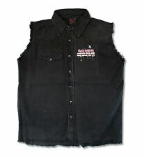 Iron Maiden England 2012 Tour Ed Mens Black Denim Vest Shirt New Official Merch