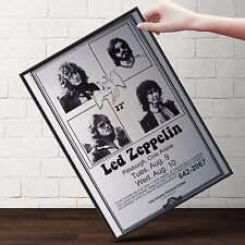 LED ZEPPELIN Concert Poster | Cubical ART | Gifts For Guys  | FREE Shipping