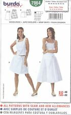 burda 7964 Misses' Skirt 10, 12, 14, 16, 18, 20, 22  Sewing Pattern