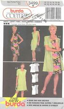 burda 3499 Misses' Dress, Jacket/Robe 10, 12, 14, 16, 18, 20  Sewing Pattern