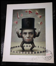 MARK RYDEN THE RING MASTER DETAIL SIGNED & STAMPED LOWBROW PRINT Lincoln Rare!