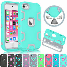 For Apple iPod Touch 5 5th / 6 6th Gen Hybrid Rugged Rubber Defender Case Cover