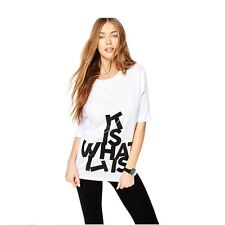 Women Short Sleeves Casual Letter Printed White Blouse T-shirts Tops Shirts