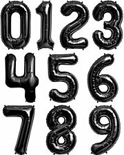 """NEW 34"""" Black Number Balloons Happy Birthday Wedding New Years Party Graduation"""
