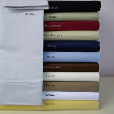 "Sale 600TC 100% Egyptian Cotton Super Soft Solid 6PC Sheet Set 16""Deep CA Size"