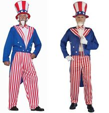 Adult Uncle Sam Costume - 4th of July - 2 Sizes Plus or Standard fnt
