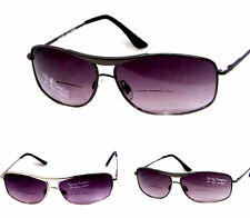 Men's Aviator Bifocal Sunglasses Reading Glasses Cheaters Spring Temples 801BS